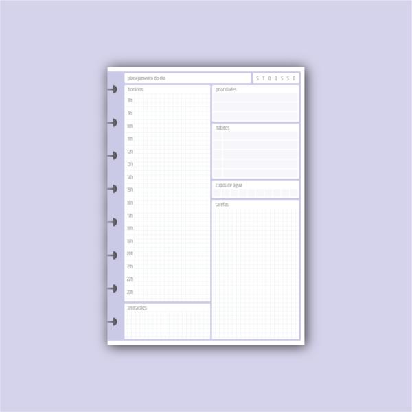 Insert planejamento diário (personalizado Cristina)