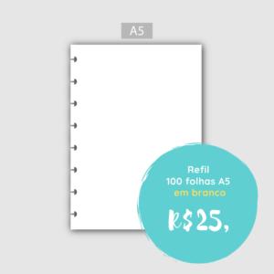 Refil 100 Folhas em Branco – A5