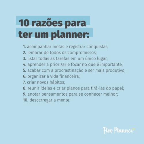 10 razões para ter um planner