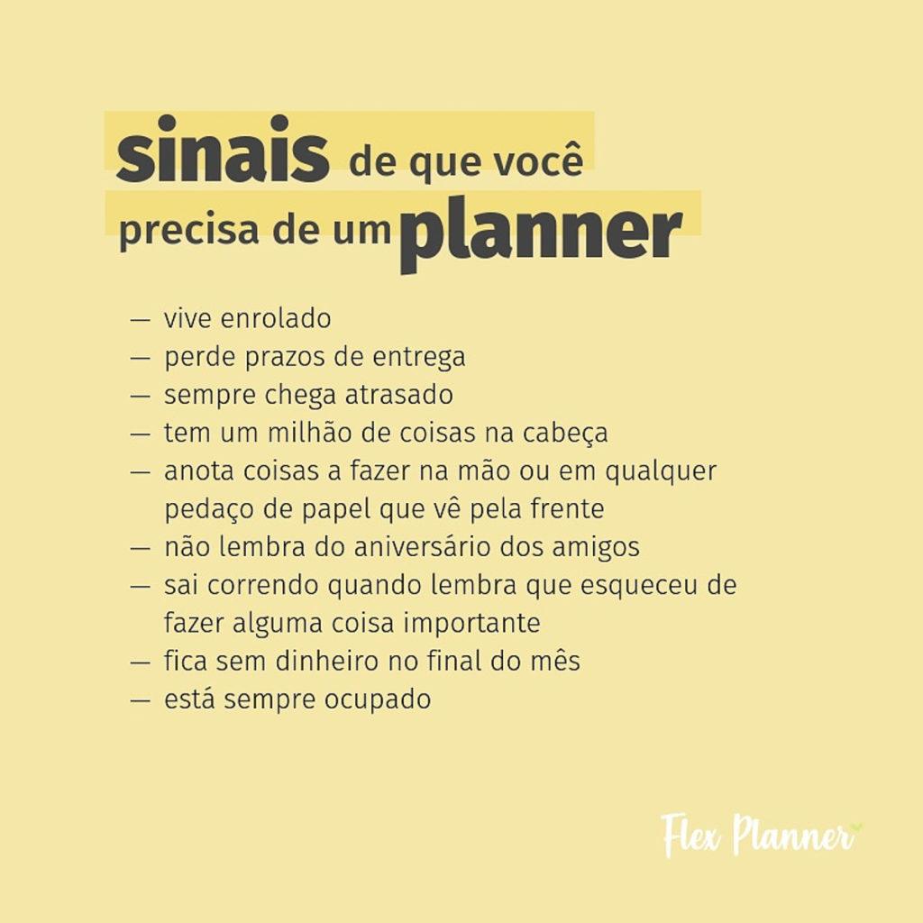Sinais de que você precisa de um planner
