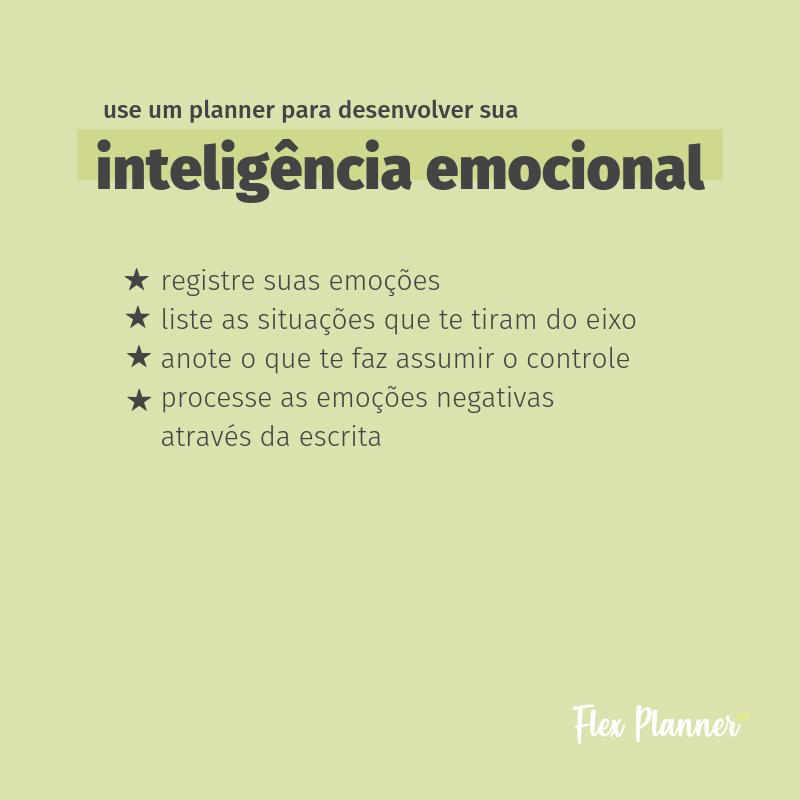 Como usar seu planner para desenvolver a inteligência emocional