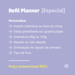 Refil Planner [Especial]