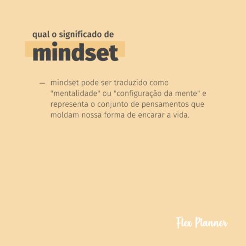 Qual o significado de Mindset?
