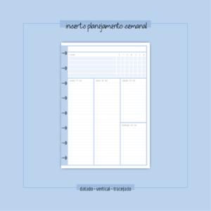 Inserts Planejamento Semanal [modelo novo]