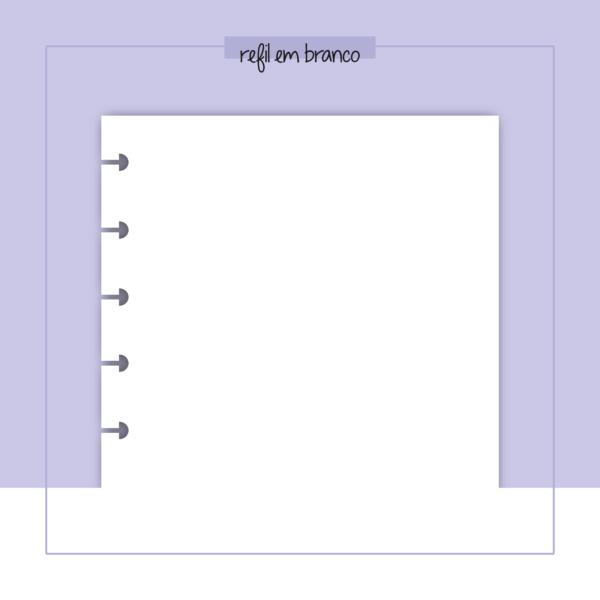 refil de caderno em branco