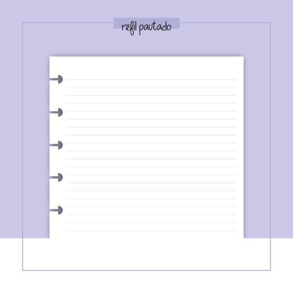 refil de caderno pautado