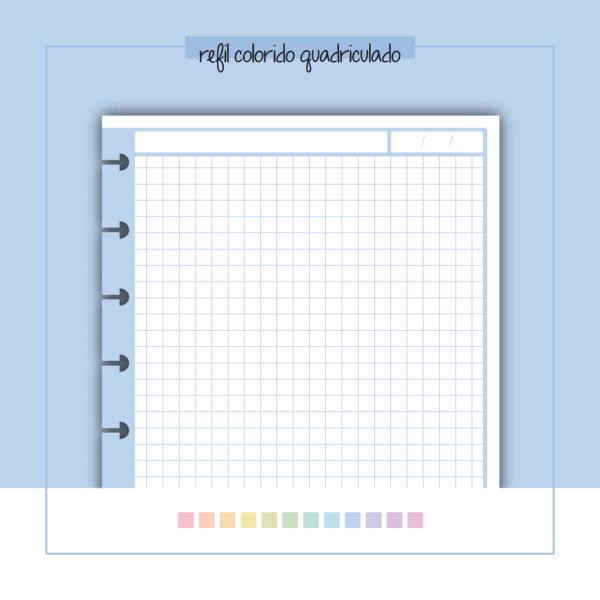 refil de caderno quadriculado