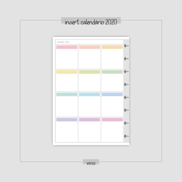 insert calendário do ano