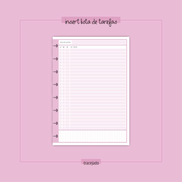 insert lista de tarefas